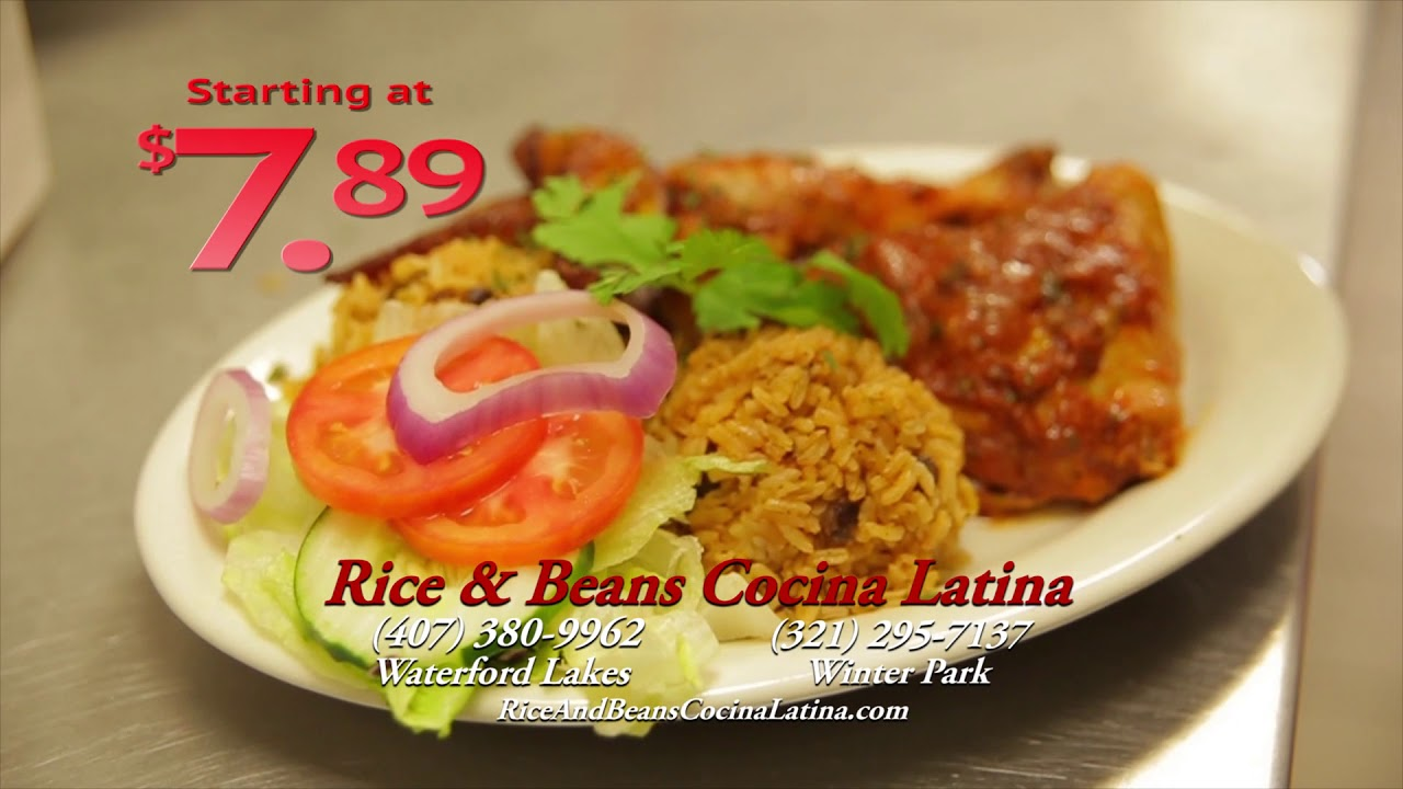 Cocina Latina Waterford Lakes Rice And Beans 2018 Commercial Youtube