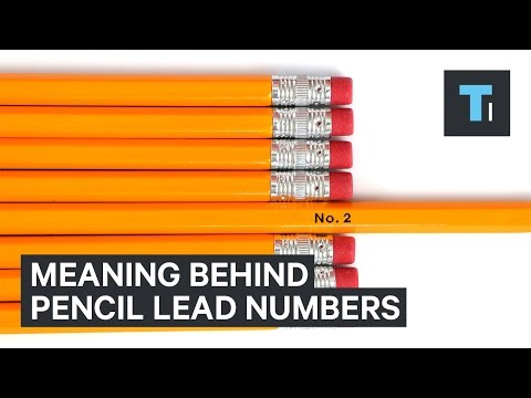 The meaning behind pencil lead numbers - YouTube