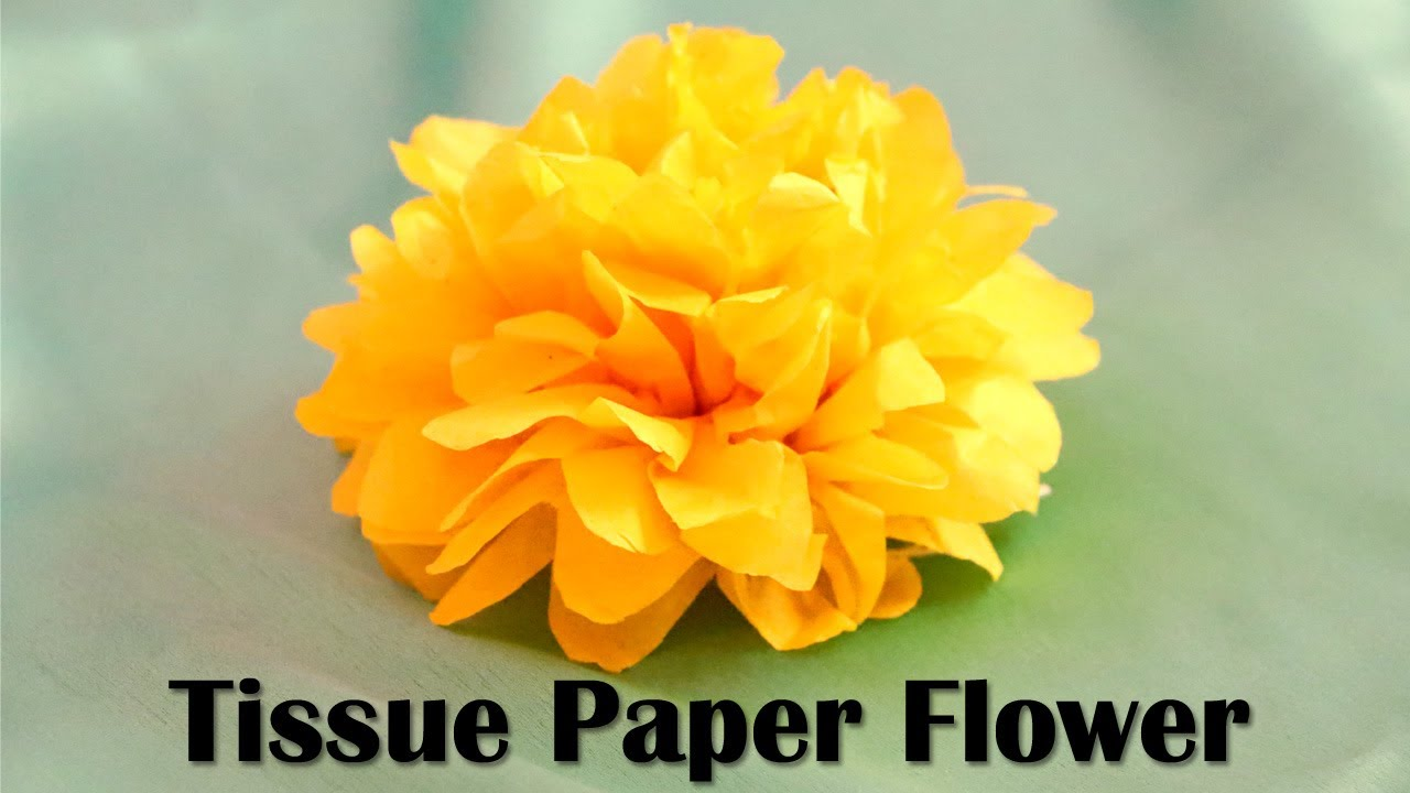 DIY Tissue Paper Flowers | Party Decorations | Paper Crafts | Little ...
