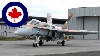 RCAF CF-18 Hornet  (F18) close up action at YHU on 24R