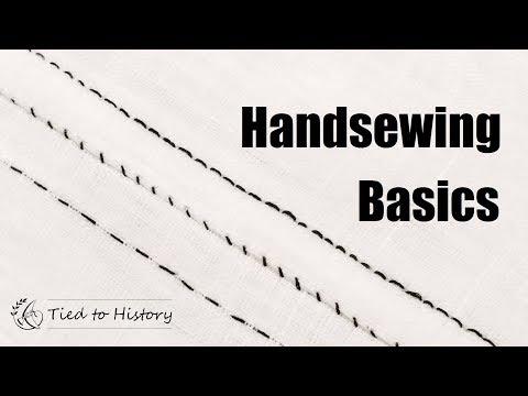 Handsewing Basics : Running Stich, Backstitch, Felled Seams