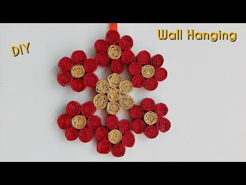 How to make newspaper wall hanging newspaper crafts for Wall hanging out of waste
