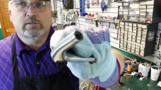 golf club repair, srixon 545 reshaft and review