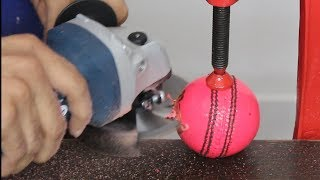 What is Inside a PINK CRICKET BALL | Cut Open a Ball | Blade XYZ | Hindi