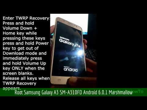 Root Samsung Galaxy A3 SM-A310FD Android 6.0.1 Marshmallow