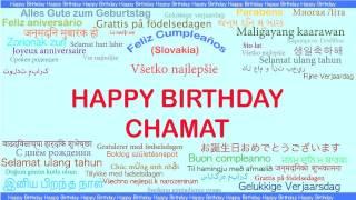 Chamat   Languages Idiomas - Happy Birthday