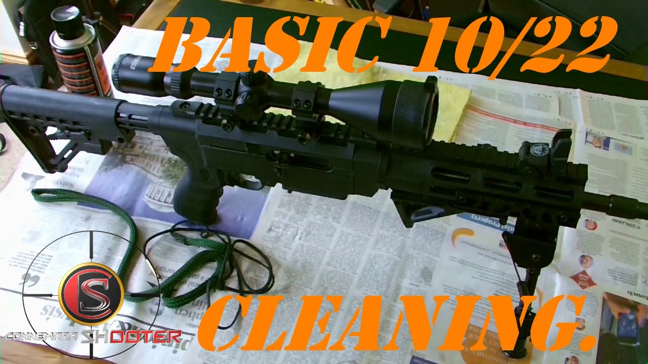 How To Do A Basic Simple Clean Of Ruger 10 22 With Bore Snake You