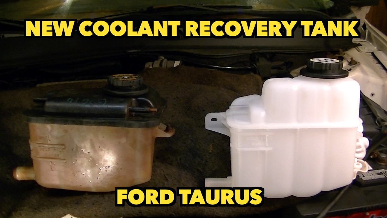 ford taurus coolant overflow tank recovery bottle replacement new bottle [ 1280 x 720 Pixel ]