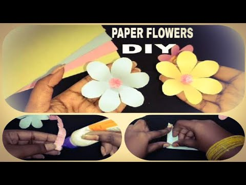 Origami || Realistic Paper Flowers DIY || EASY CRAFTS || Chaitu's World