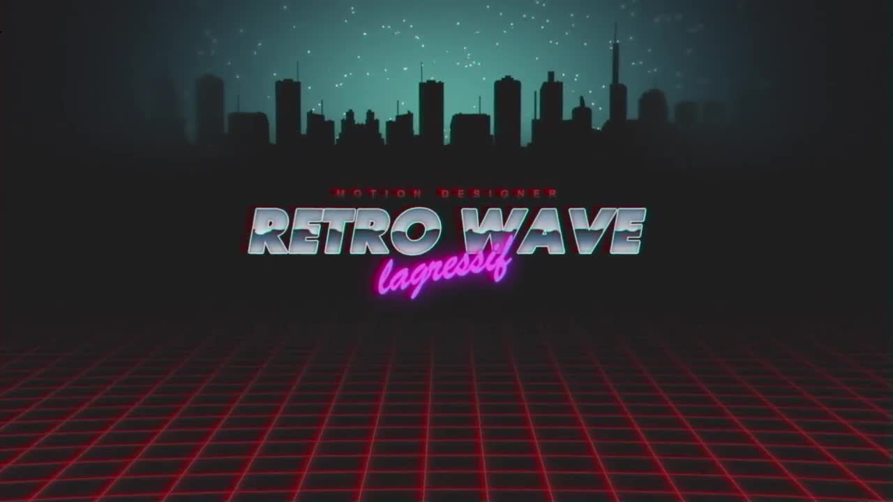Retro Wave Intro v 2 After Effects Templates