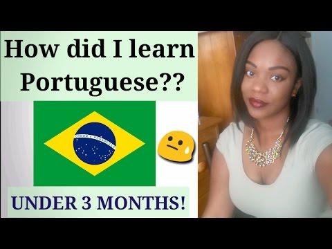 HOW DID I LEARN PORTUGUESE??   with English subtitles   Como eu aprendi Português😱