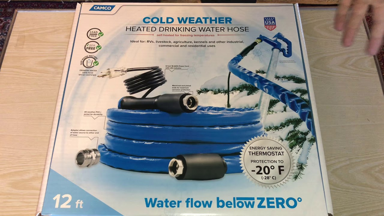 Camco 22910 Heated Drinking Water Hose Youtube