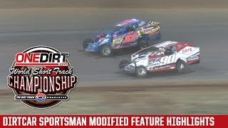 Charlotte Motor Speedway DIRTcar Sportsman Modified Highlights