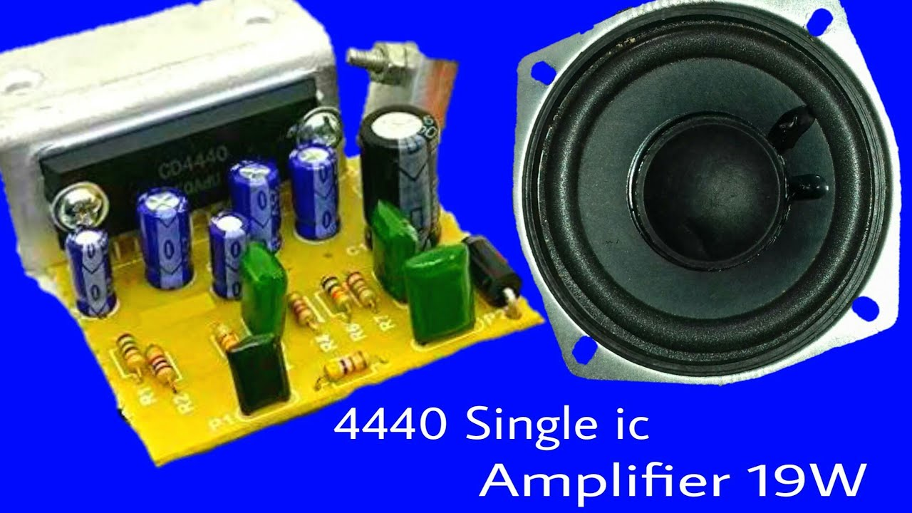 LA4440 ic Subwoofer and tweeter powerful amplifier (Nice Working) by GB  Electronic