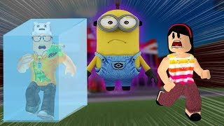 ROBLOX: MY MOTHER AND I IN: WHO TURN MINION LAST WIN! -Play Old man