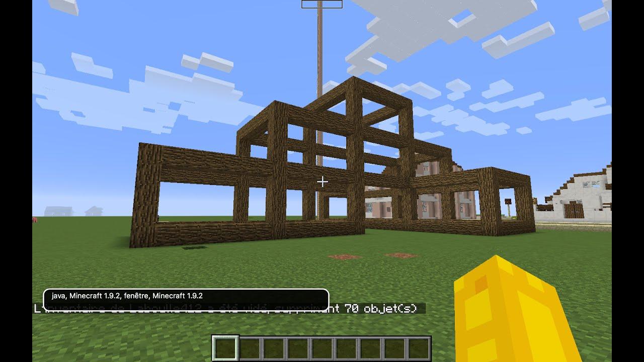 Minecraft construction d 39 une grande maison plut t classe for Minecraft construction d une maison