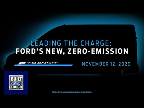 The New 2022 Ford E-Transit World Debut | Ford