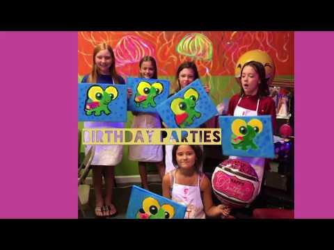 Kid's Birthday Paint Party, Black Light, Karaoke