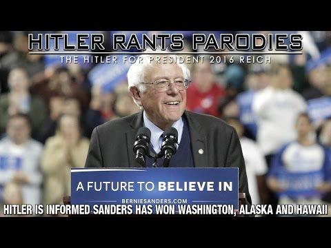 Hitler is informed Sanders has won Washington, Alaska and Hawaii