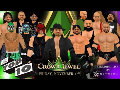 Top 10 WWE Crown Jewel Moments- WR3D 2K19