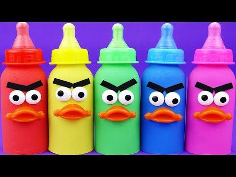 Bingo song nursery rhymes - Learn Colors with Rainbow Kinetic Sand Milk Bottle Toys for Kids
