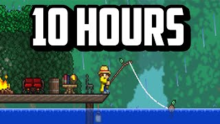 Fishing for 10 HOURS with the WORST Fishing Rod in Terraria