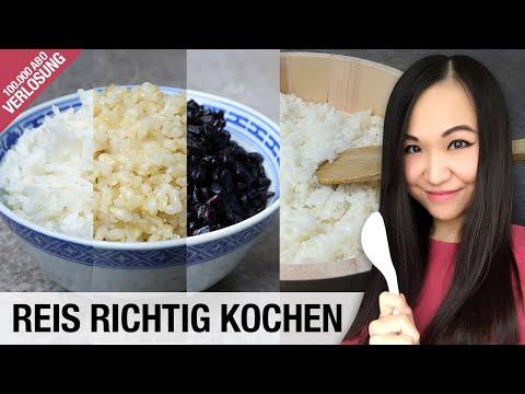 Reis Richtig Kochen Im Topf Und Reiskocher | Reissorten | 100.000 Abonnenten Special