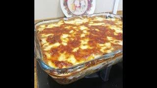 Мясная запеканка с макаронами Ленивая лазанья с соусом Бешамель. Супер вкусно!