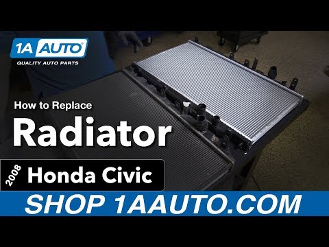 How to Replace Install Radiator 06 -11 Honda Civic