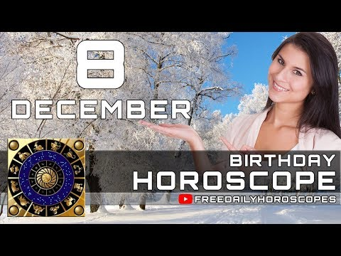 December 8 - Birthday Horoscope Personality