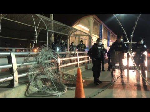 Cientos de cubanos tratan de cruzar la frontera entre México y Estados Unidos