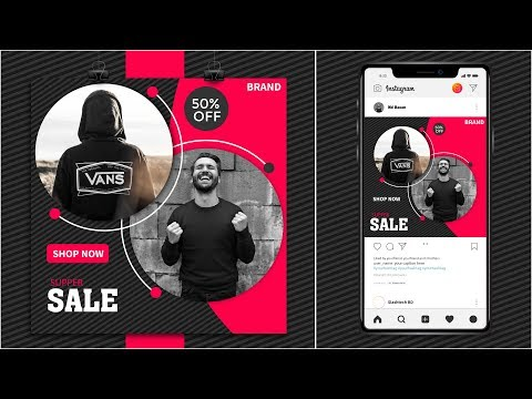 Fashion sale social media instagram add banner design || Illustrator Tutorial thumbnail