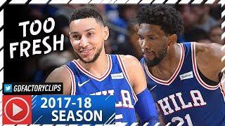 Ben Simmons 26 Pts & Joel Embiid 21 Pts Full Highlights vs Spurs (2018.01.03) - BEN CLUTCH!