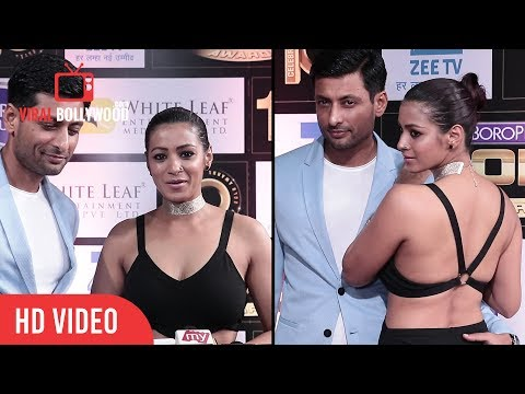 Barkha Bisht And Indraneil Sengupta At Boroplus 10th Gold Awards 2017 | Zee Tv