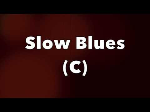 Slow Blues Backing Track in C - Hendrix Style