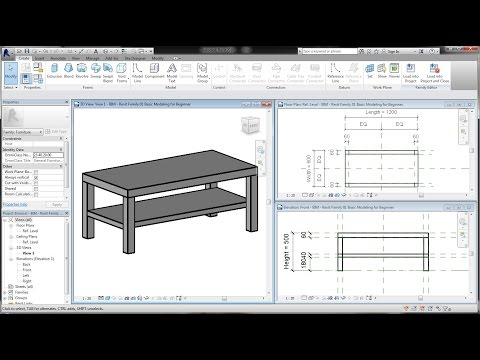 BIM - Revit Family 01 Basic Modeling Tutorial for Beginner