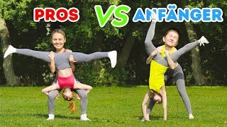 Unmögliche Akrobatik Challenge! PRO vs NEULINGE Drehe das Glücksrad || Gymnastiktricks