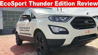 2019 Ford EcoSport Thunder Edition Walkaround Review 🔥Aayush ssm