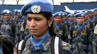 Nepal Formed Police arrive for deployment to Tubmanburg