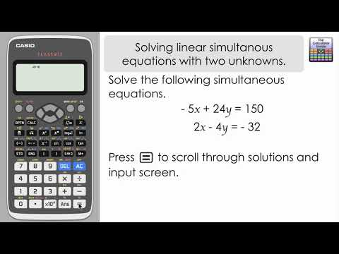 Solving Linear Simultaneous Equations With Two Unknowns & Storing The Solution Casio Classwiz 991EX