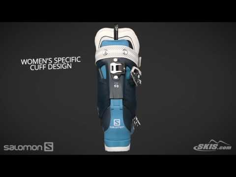 2017 Salomon QST Pro 90W Womens Boot Overview by SkisDotCom
