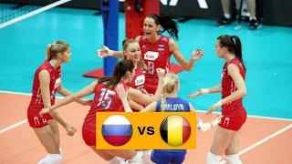 Волейбол. Россия - Бельгия. Женщины. 1/8 Финала. Чемпионат Европы 2019