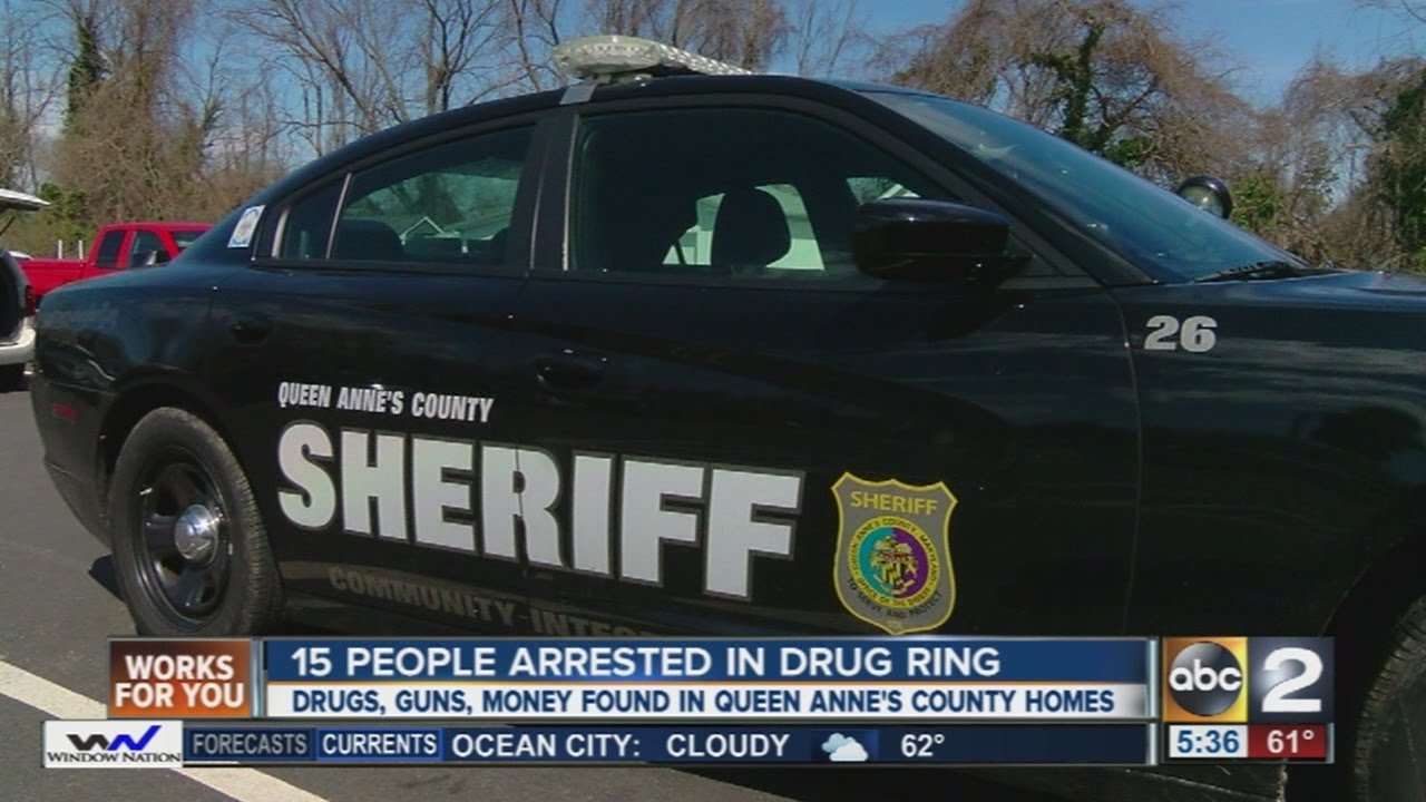 15 people arrested in Queen Anne\'s County drug bust - YouTube