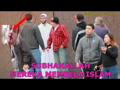 TERHARU !!! ORANG ORANG KANADA MEMBELA ISLAM