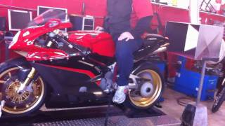 MV Agusta F4 1000 Tamburini Sound & Back Fire HD