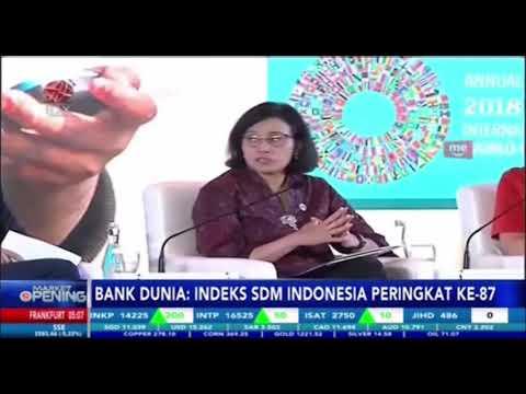 BANK DUNIA : INDEX SDM INDONESIA PERINGKAT KE-87