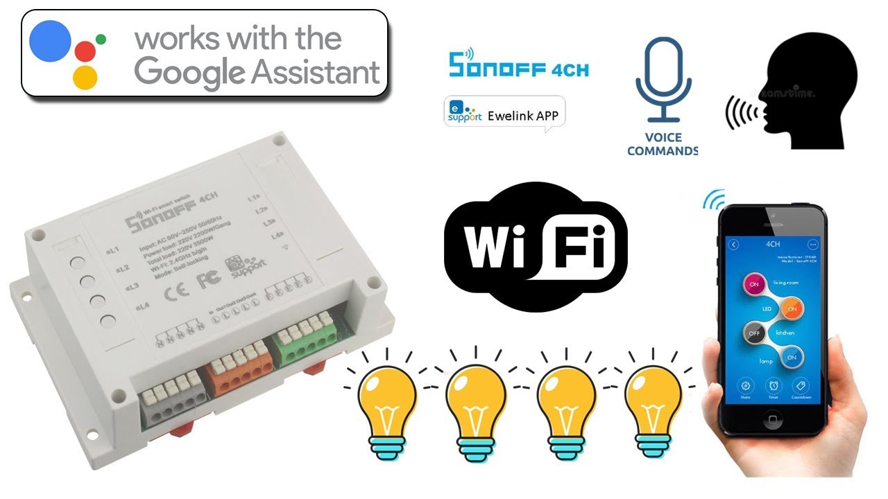 SONOFF 4 Channel WiFi Smart Switch- Unboxing, Setup, Individual Control &  Review in Bangla