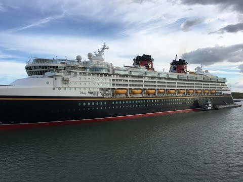 Disney Wonder Live out of Dry Dock
