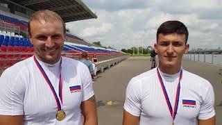 Виктор Мелантьев и Владислав Чеботарь - чемпионы России-2018 по гребле на каноэ-двойке 500 м