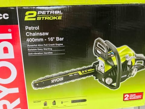 How To Refit A Chainsaw Chain If It Comes Off Ryobi